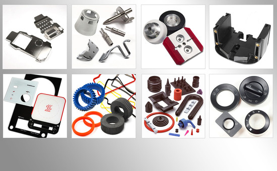 Customized plastic, rubber, metal and glass parts