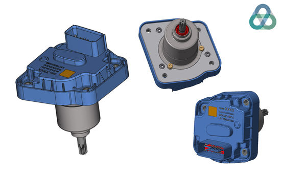 Compact smart actuator for RDC control
