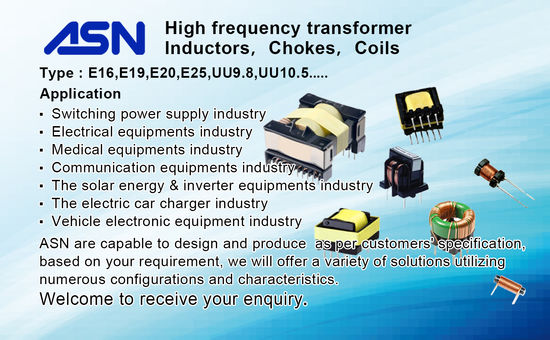 High frequency transformer, chokes and coils etc.