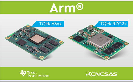 Arm<sup>®</sup> based TI and Renesas modules