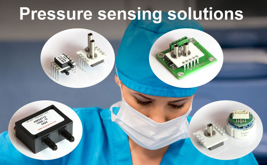 Pressure sensors, modules and pressure transmitter